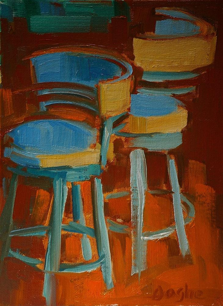 """Tall Chairs"" original fine art by Angela Ooghe"