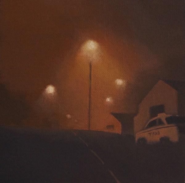 """""""LATE NIGHT"""" original fine art by Gerald Schwartz"""