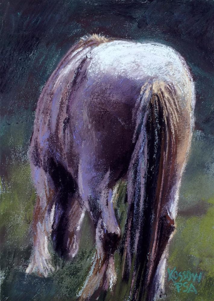 """""""Callipygous Pony"""" original fine art by Cristine Kossow"""