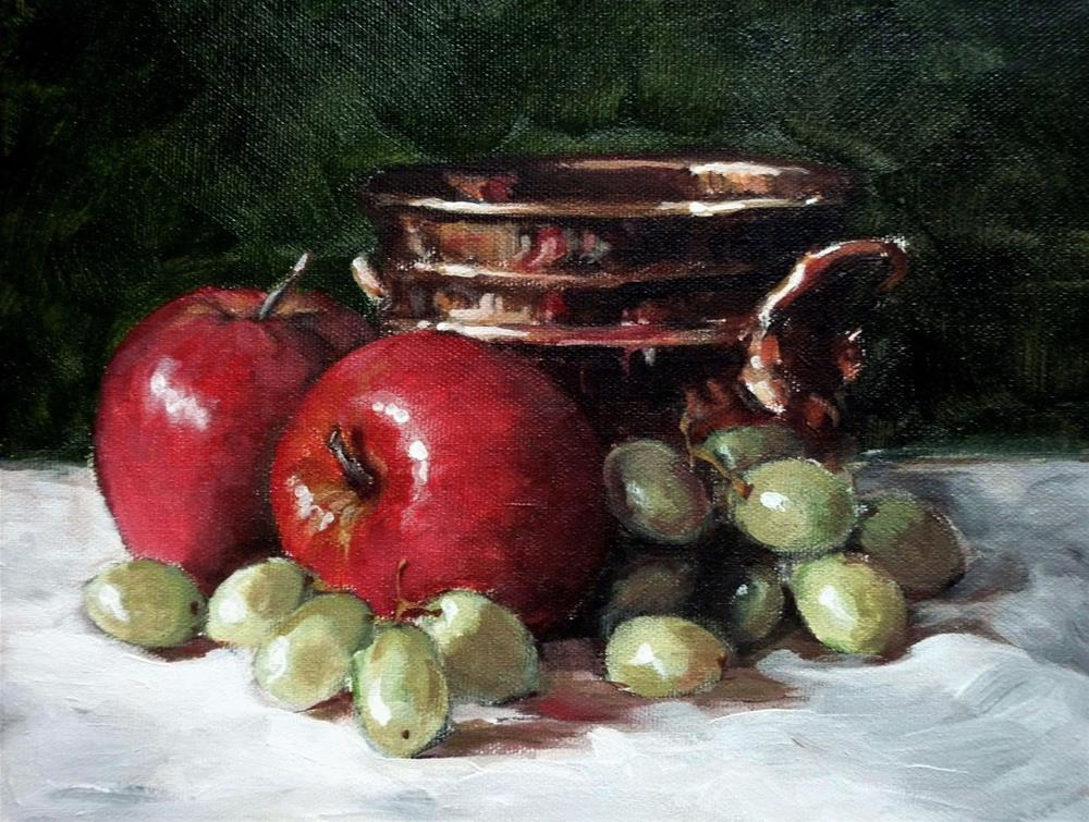 """How D'Ya Like Them Apples?"" original fine art by Helene Adamson"