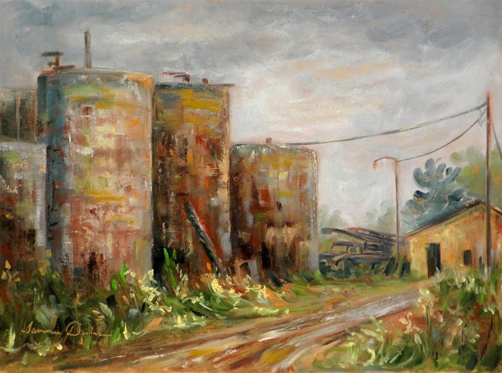"""Vintage Tanks"" original fine art by Tammie Dickerson"