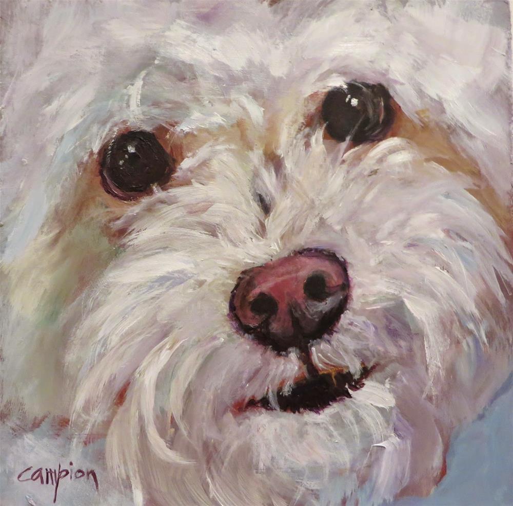 """527 My Teddy Bear, Oliver"" original fine art by Diane Campion"