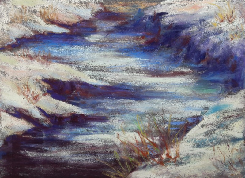 """Slate River Melt"" original fine art by Becky Chappell"