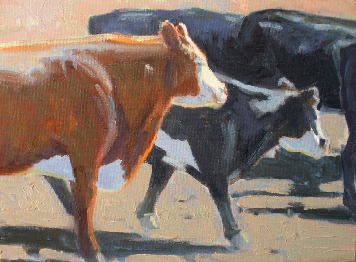 """Brown Cow"" original fine art by David Forks"