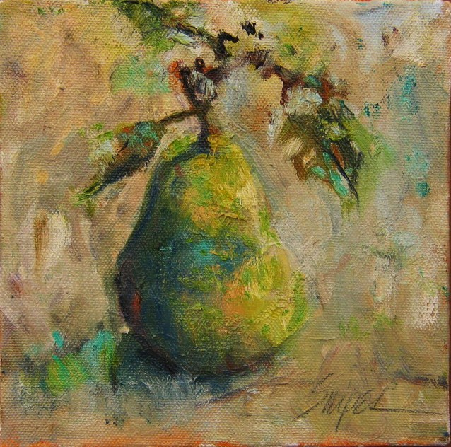 """A Pear for You"" original fine art by Connie Snipes"