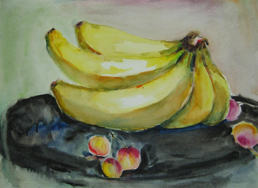 """banana 2"" original fine art by Wenqing Xu"