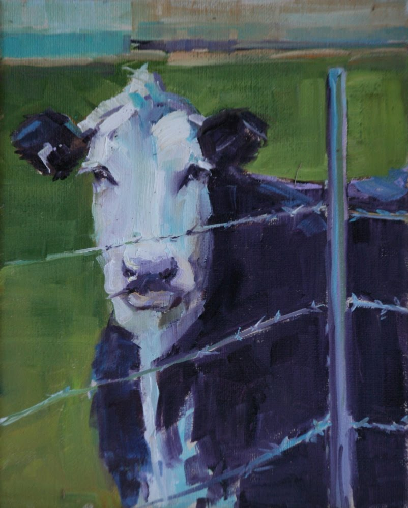 """fenced in"" original fine art by Carol Carmichael"