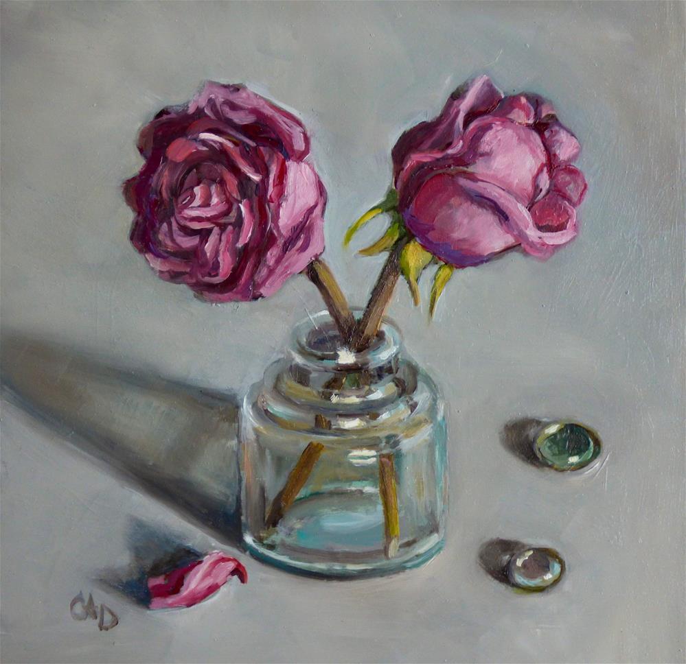 """X Marks the Spot"" original fine art by Christine Angelotta Dixon"