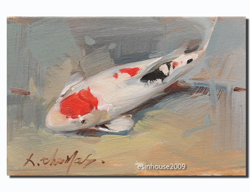"""""""koi"""" original fine art by Thomas Xie"""