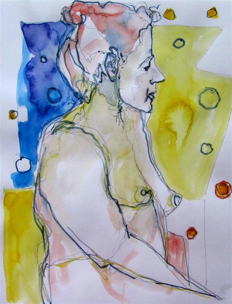 """Sketchbook Figure Study 2"" original fine art by Patricia MacDonald"