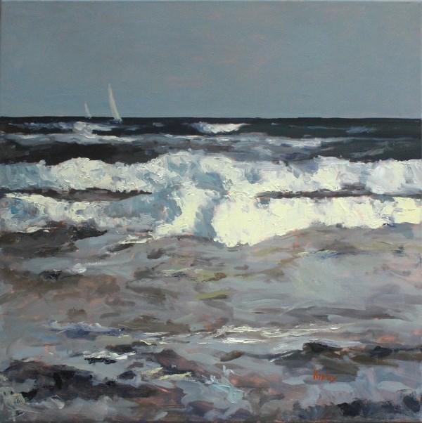 """Sea Bound 24x24"" original fine art by Randall Cogburn"