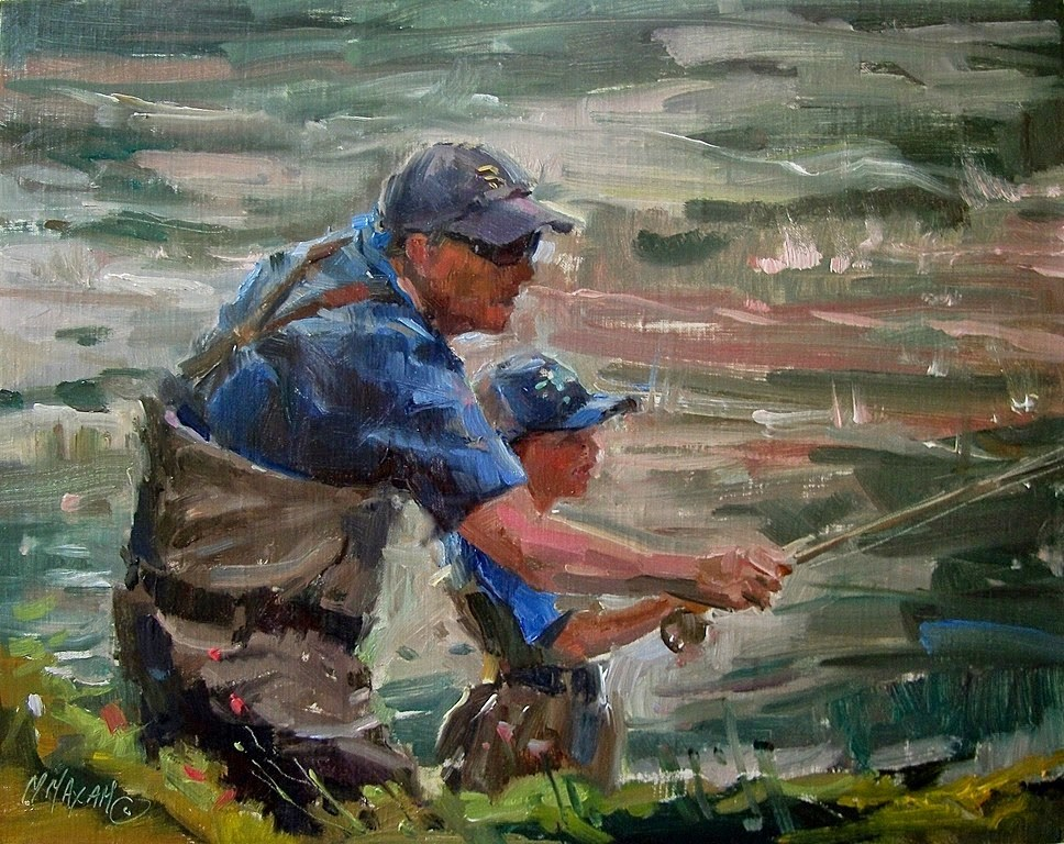 """Like Father, Like Son"" original fine art by Mary Maxam"