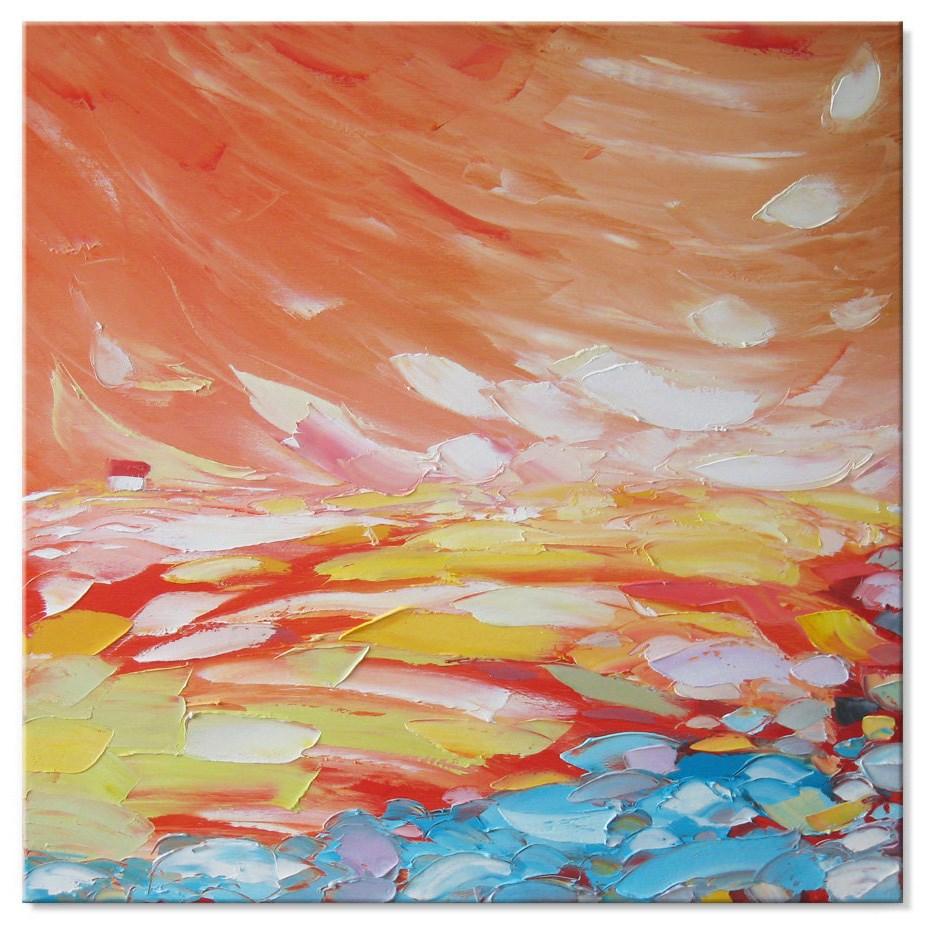 """Red fog"" original fine art by Elena Lunetskaya"