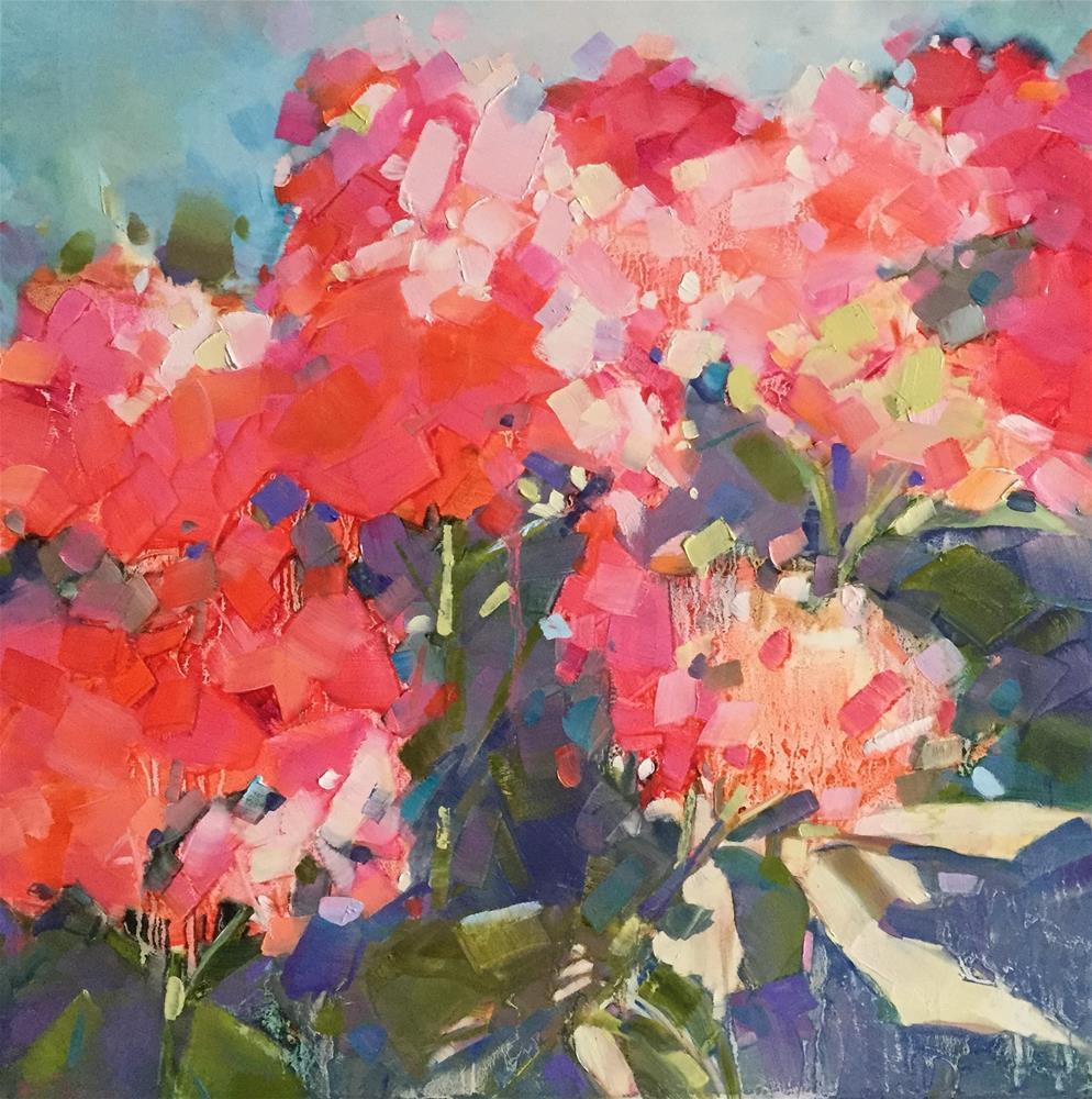 """Morning Hydrangeas"" original fine art by Kathleen Broaderick"