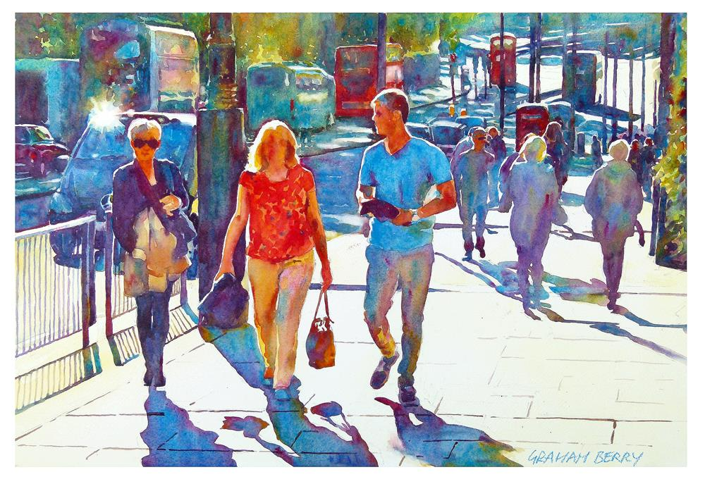 """London sunshine"" original fine art by Graham Berry"