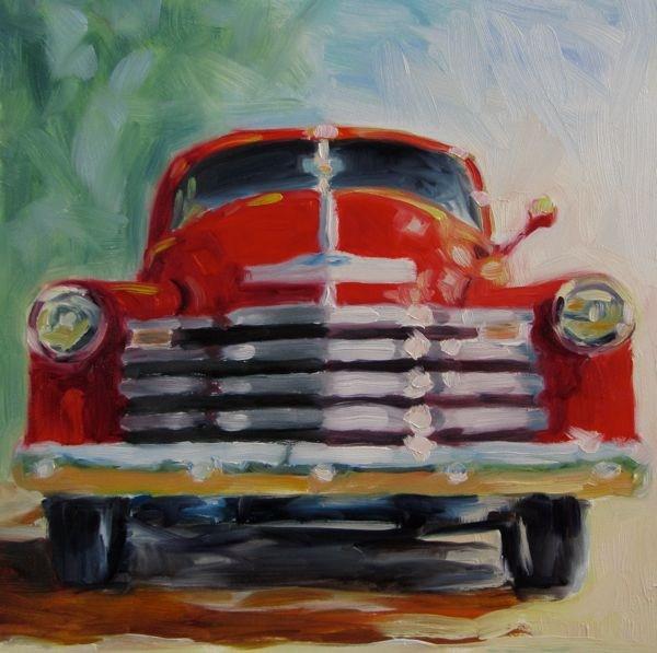 """Cherry Red"" original fine art by Mb Warner"