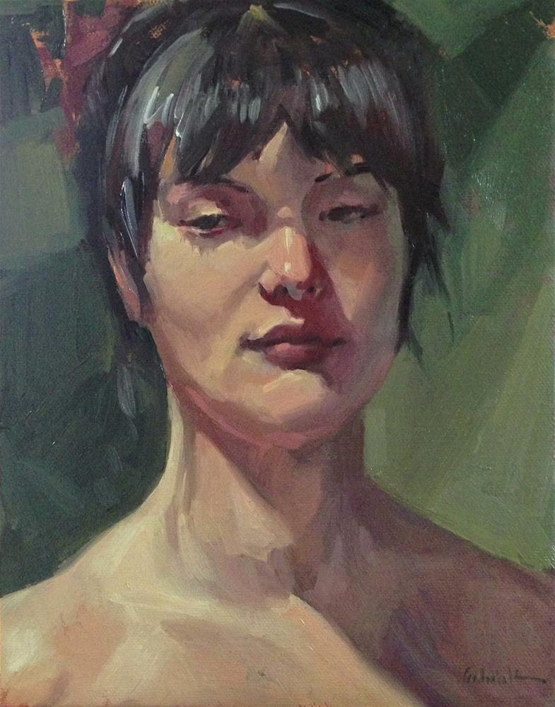 """Sultry Sleepy Eyes"" original fine art by Sarah Sedwick"