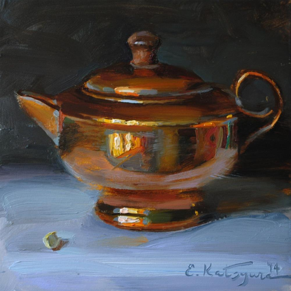 """Copper Creamer"" original fine art by Elena Katsyura"