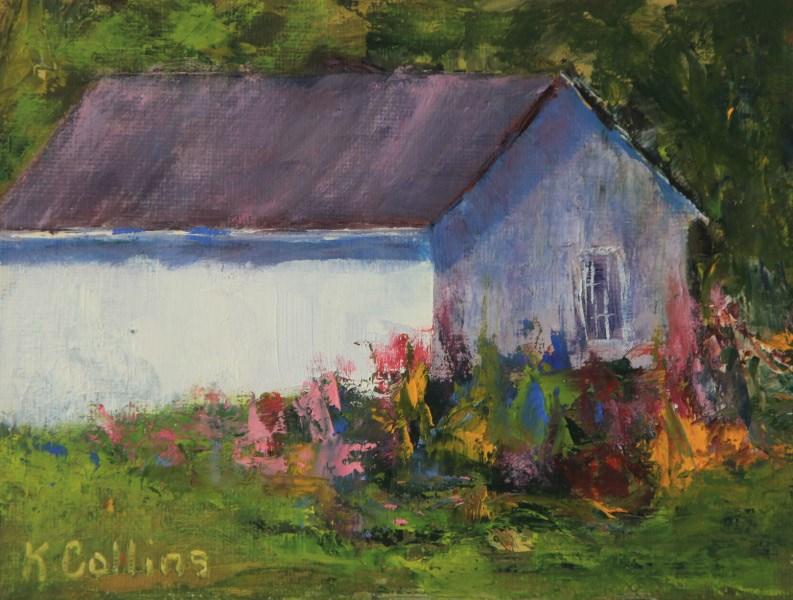 """""""Flower Garden"""" original fine art by Kathy Collins"""