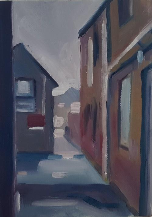 """An Alley, Ryde"" original fine art by J M Needham"