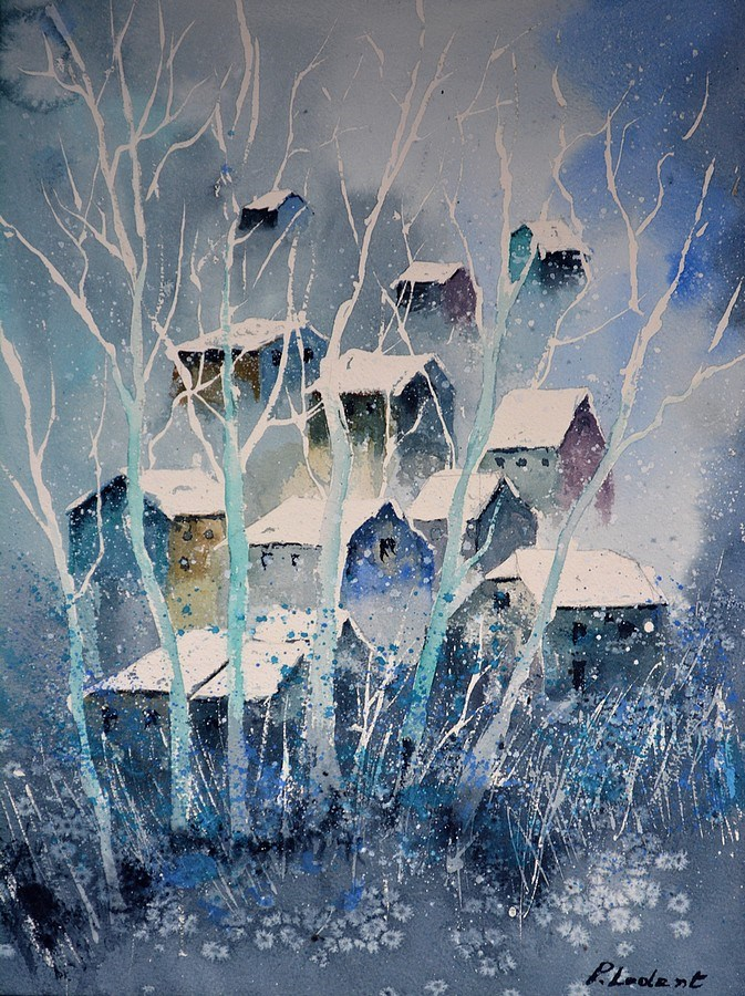 """watercolor 511042"" original fine art by Pol Ledent"