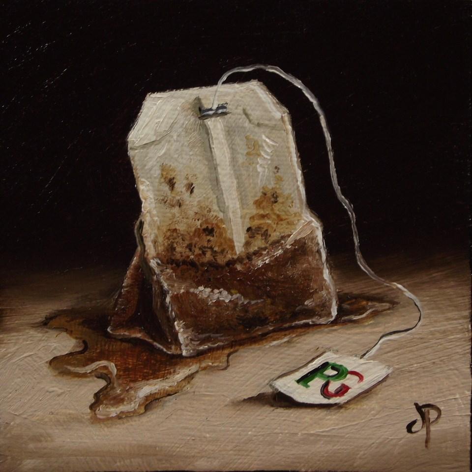 """Little tea bag"" original fine art by Jane Palmer"