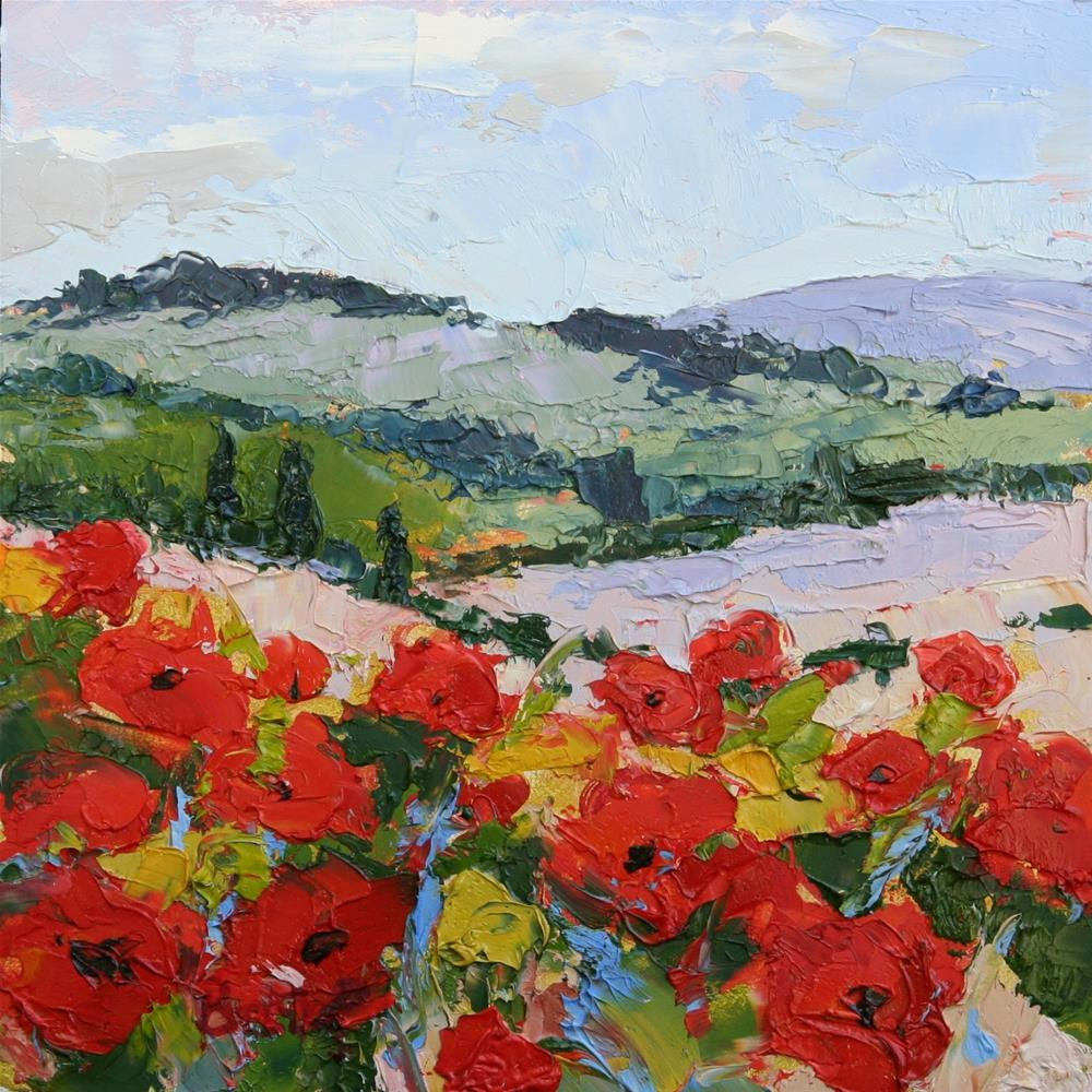 """Poppies in Bloom"" original fine art by Mark Bidstrup"