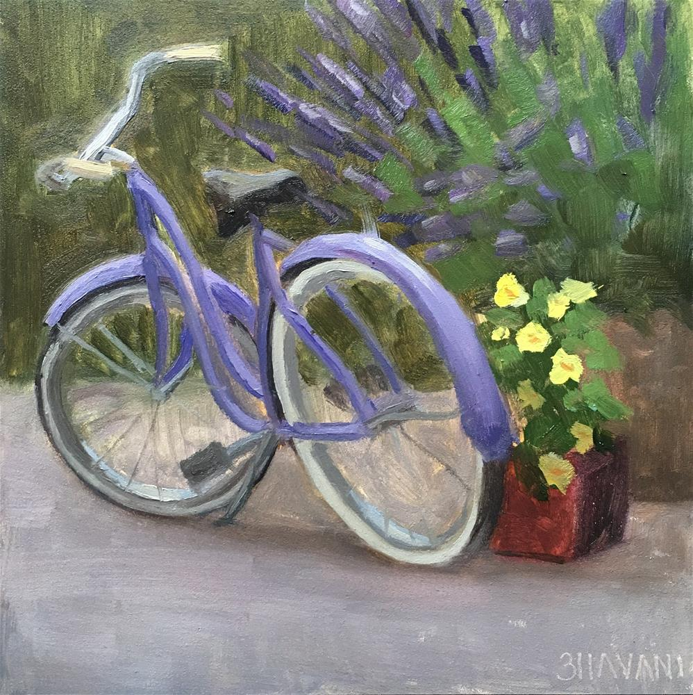 """Lavender Ride"" original fine art by Bhavani Krishnan"