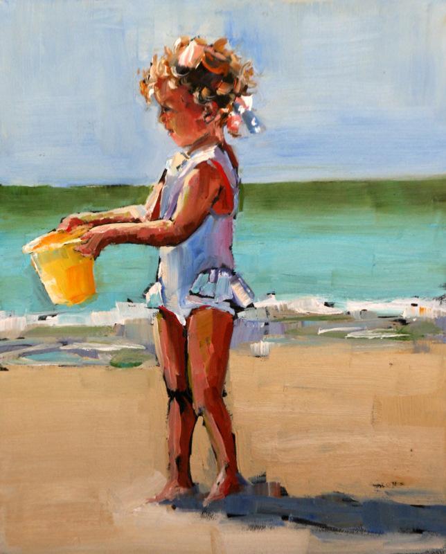 """""""curls"""" original fine art by Carol Carmichael"""
