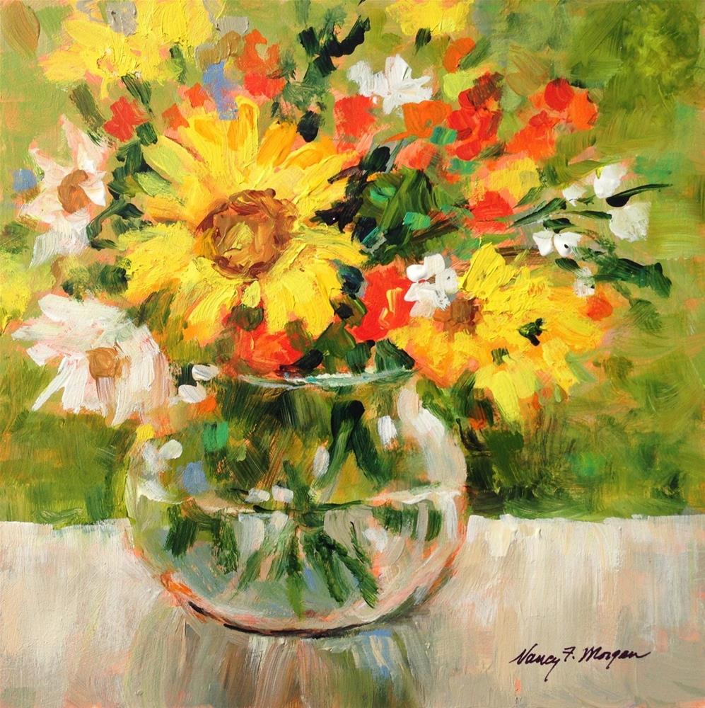 """Light Through Glass"" original fine art by Nancy F. Morgan"