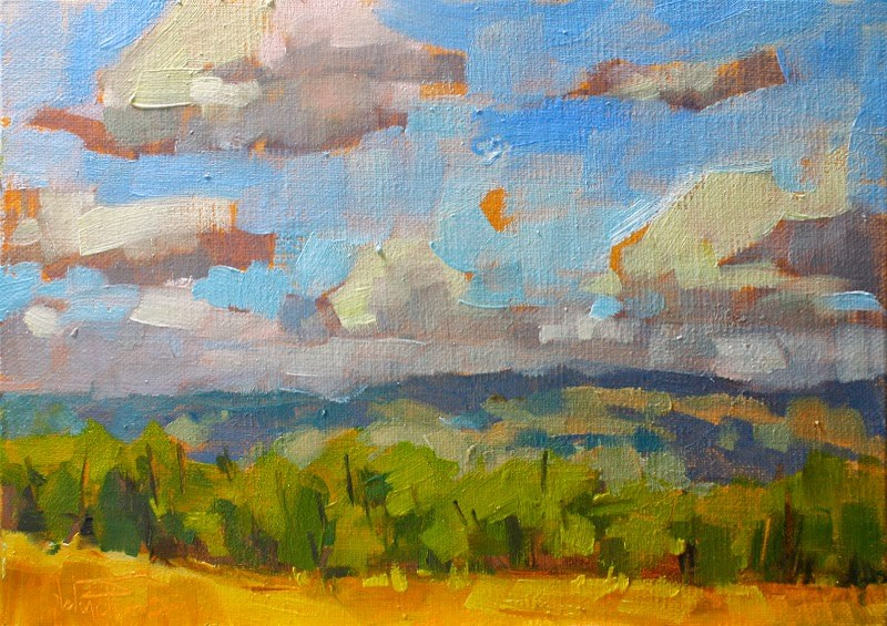 """Fast and Loose Foothills"" original fine art by Melanie Thompson"
