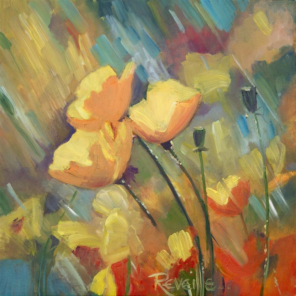 """Poppy Shower"" original fine art by Reveille Kennedy"