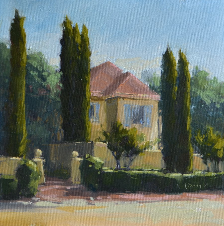 """Sun Struck Villa"" original fine art by Laurel Daniel"