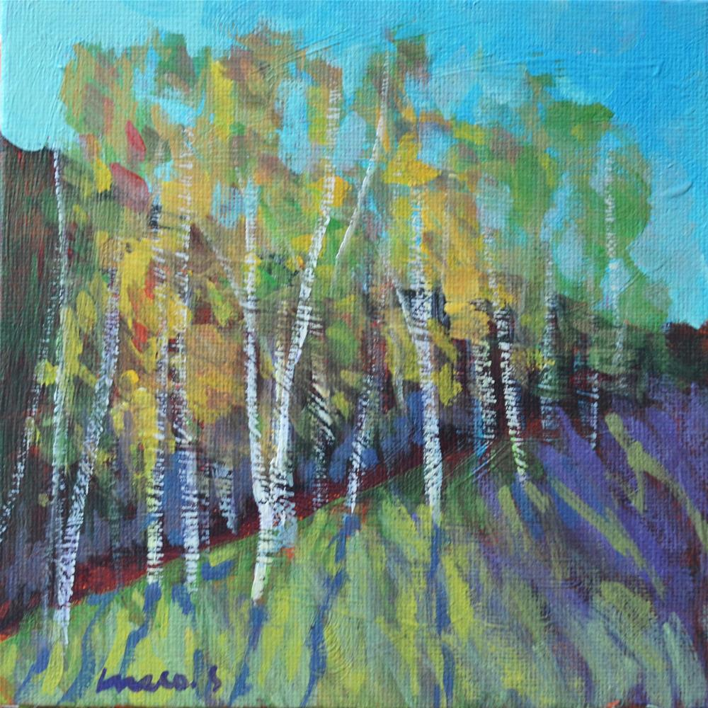 """Birches"" original fine art by salvatore greco"