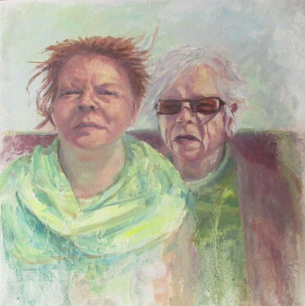 """Mother and Daughter"" original fine art by Steinunn Einarsdottir"