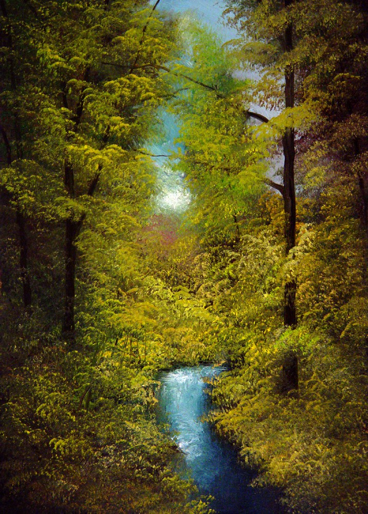 """Blue Stream"" original fine art by Bob Kimball"