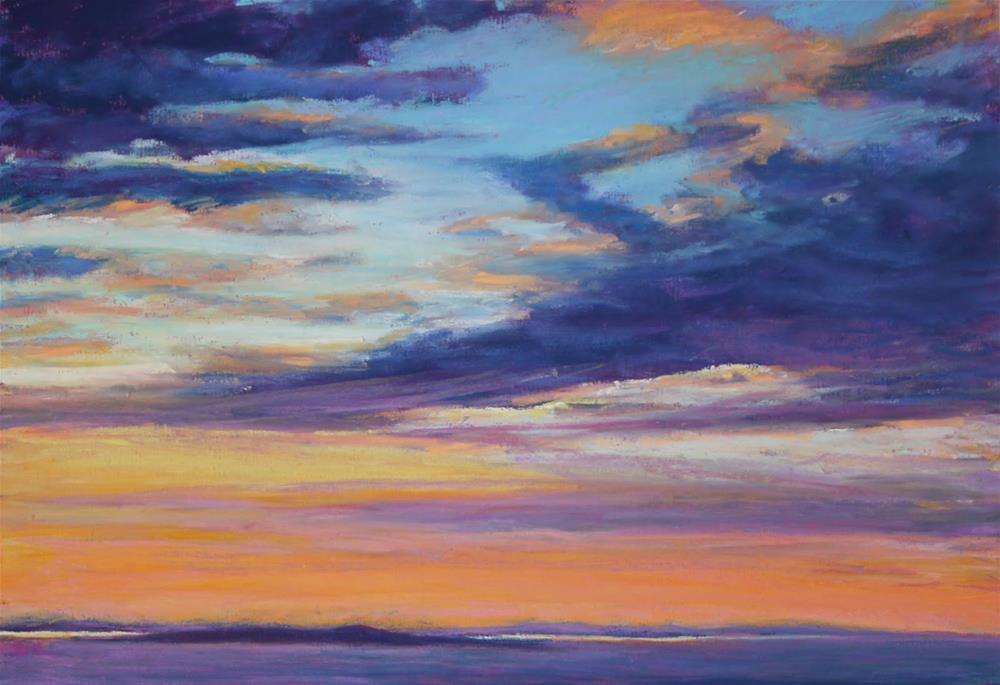"""Maine Sunset"" original fine art by Sharon Lewis"