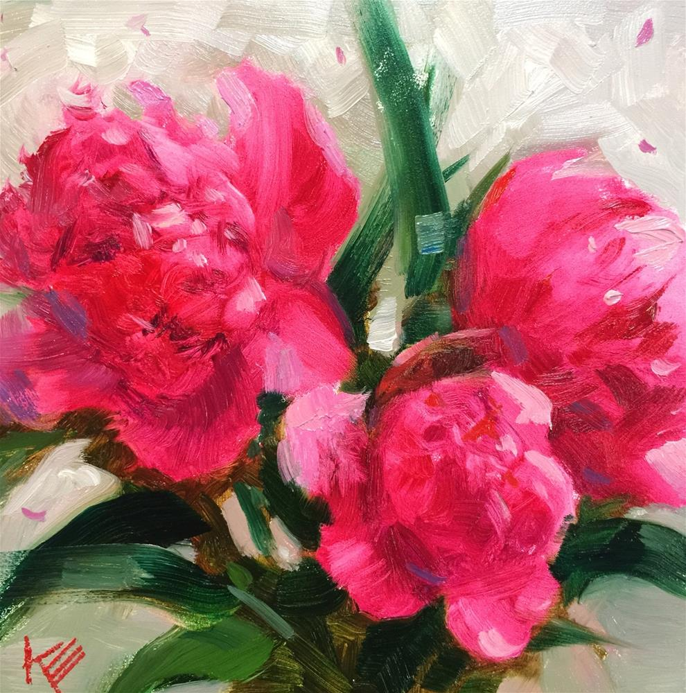 """Pink Passion"" original fine art by Krista Eaton"