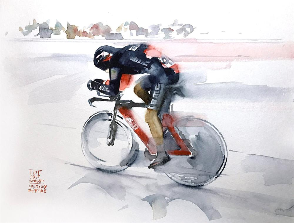 """""""TDF Stage 1"""" original fine art by Shirley Peters"""