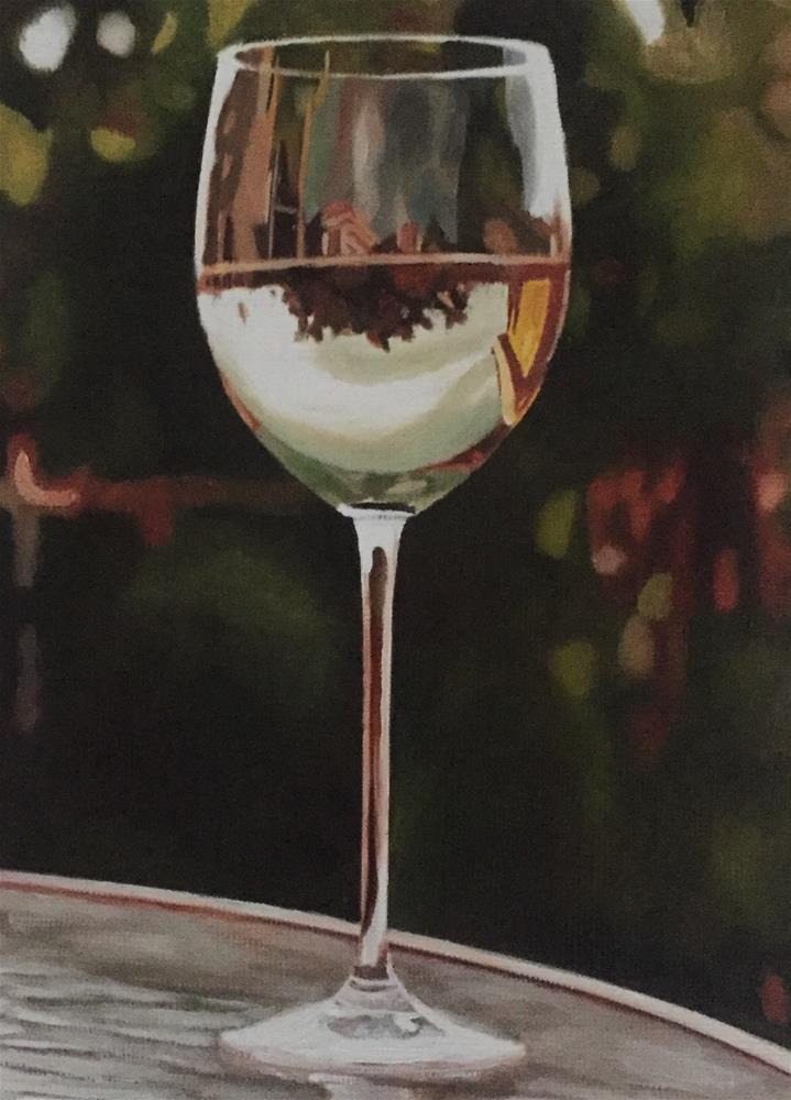 """Chardonnay"" original fine art by John Cameron"
