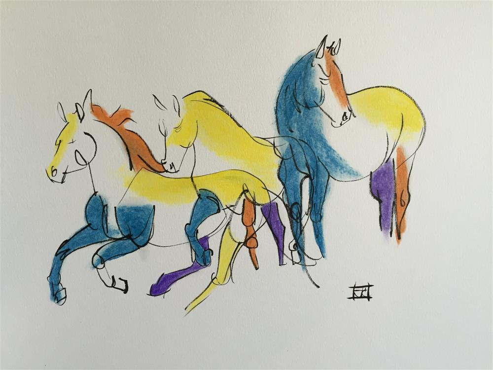 """horse"" original fine art by Arron McGuire"
