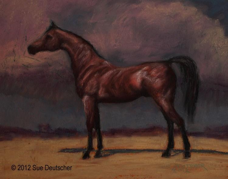 """""""Abenhetep"""" original fine art by Sue Deutscher"""