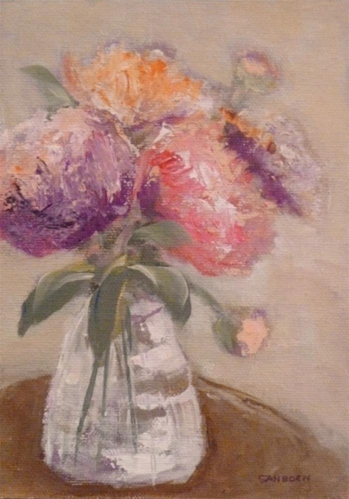 """Floral"" original fine art by Jo-Ann Sanborn"
