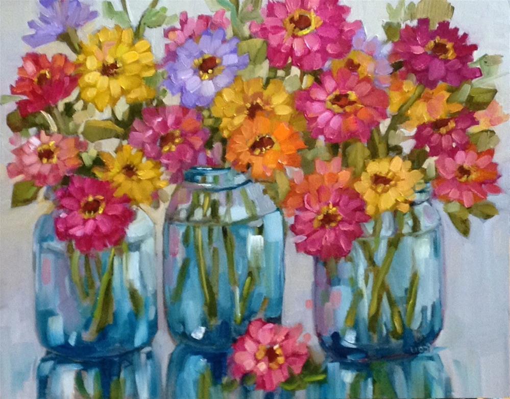 """""""Three time Z"""" original fine art by Libby Anderson"""