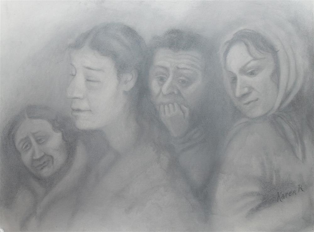 """Refugees"" original fine art by Karen Roncari"