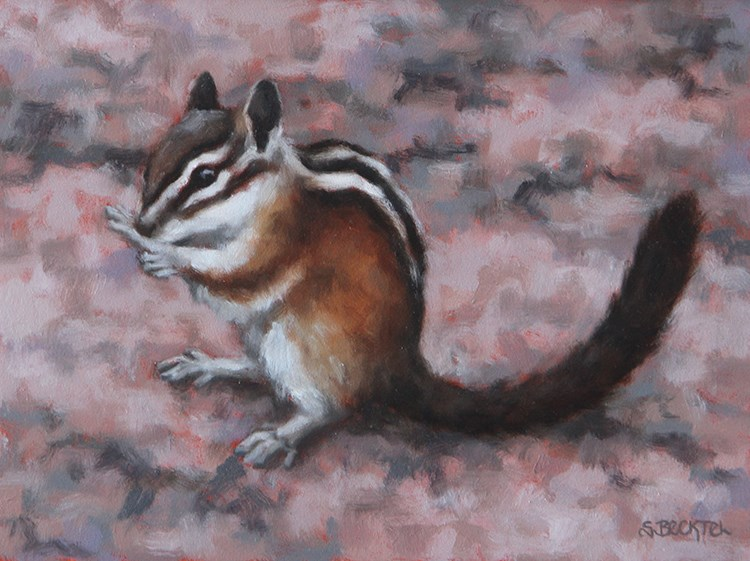"""Western Chipmunk I"" original fine art by Sarah Becktel"