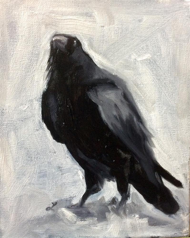 """Crow 2"" original fine art by Lori Jacobs - Farist"