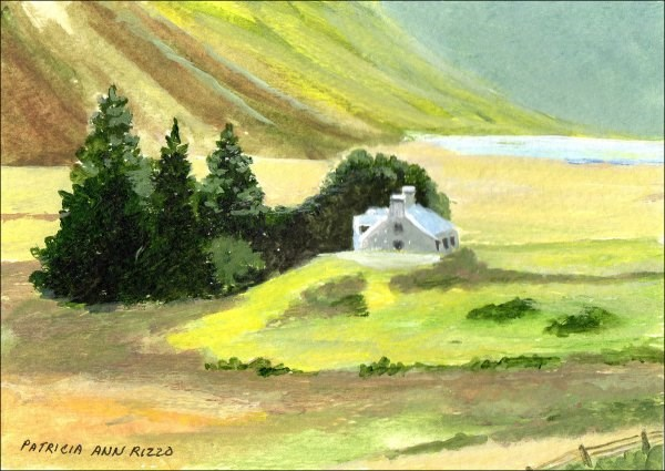 """Quiet Country Manor"" original fine art by Patricia Ann Rizzo"