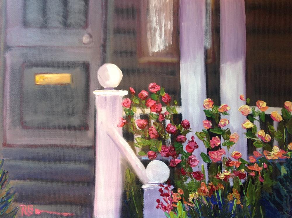 """Porch Flowers"" original fine art by Rose Brenner"