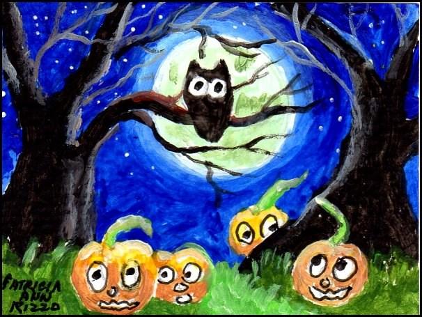 """Halloween Madness"" original fine art by Patricia Ann Rizzo"